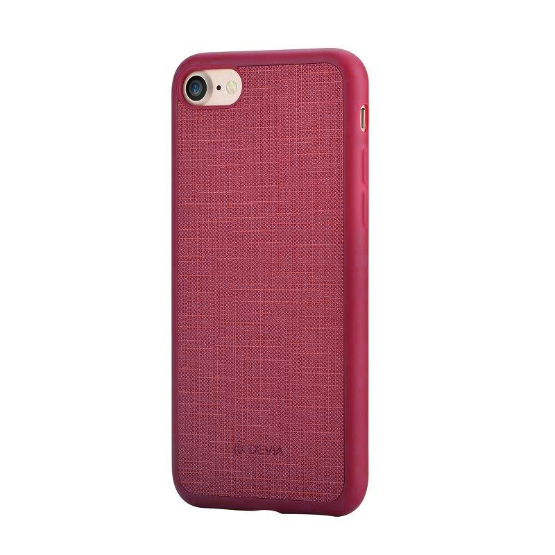 Jelly slim case (England) for iPhone 7Plus wine red