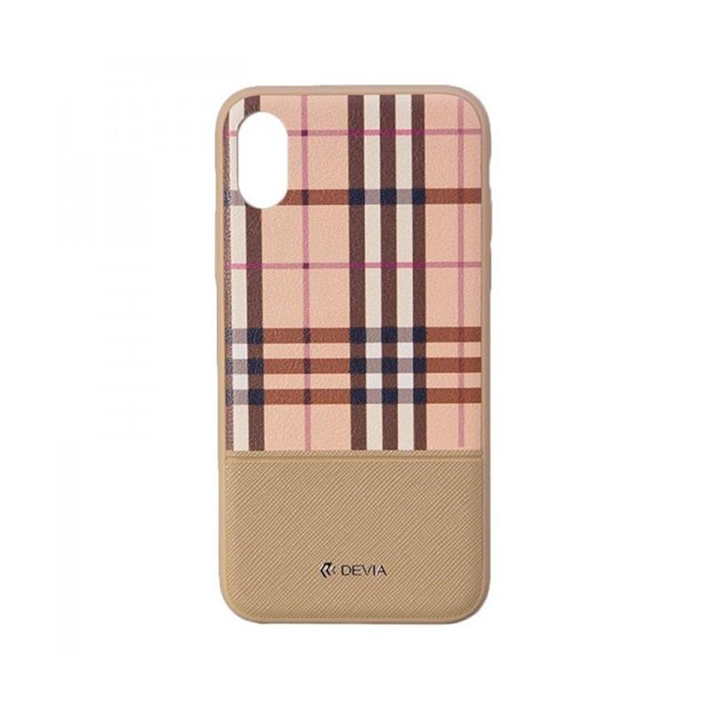 Lattice case for iPhone X Brown