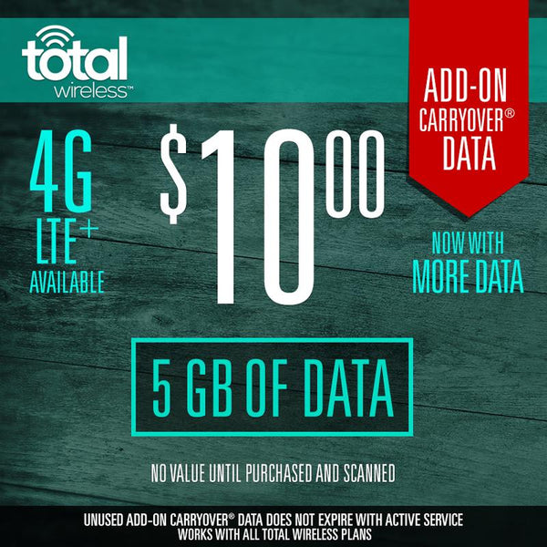 Add On 5Gb Data Total Wireless