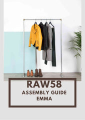Emma Clothes rack industrial pipe assembly guide