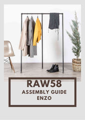 Enzo industrial pipe clothes rack assembly guide