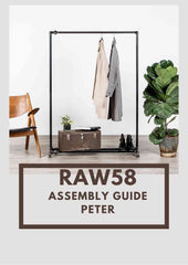 Peter clothes rack industrial pipe assembly guide