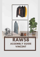 Vincent clothes rack industrial pipe assembly guide
