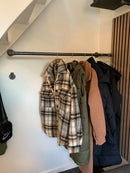 RAW58 Sara wall-mounted clothes rail in black