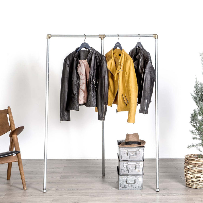 RAW58 Enzo clothes rack in silver