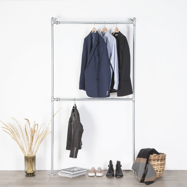 RAW58 Conor clothing rack in silver