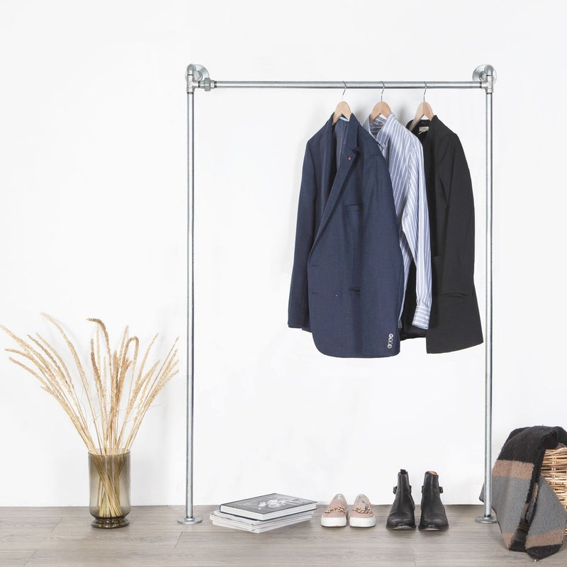 RAW58 London clothing rack in silver