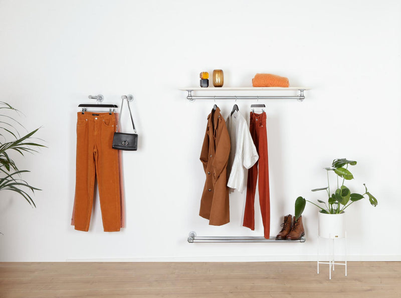 RAW58 Ebba clothes rail in silver