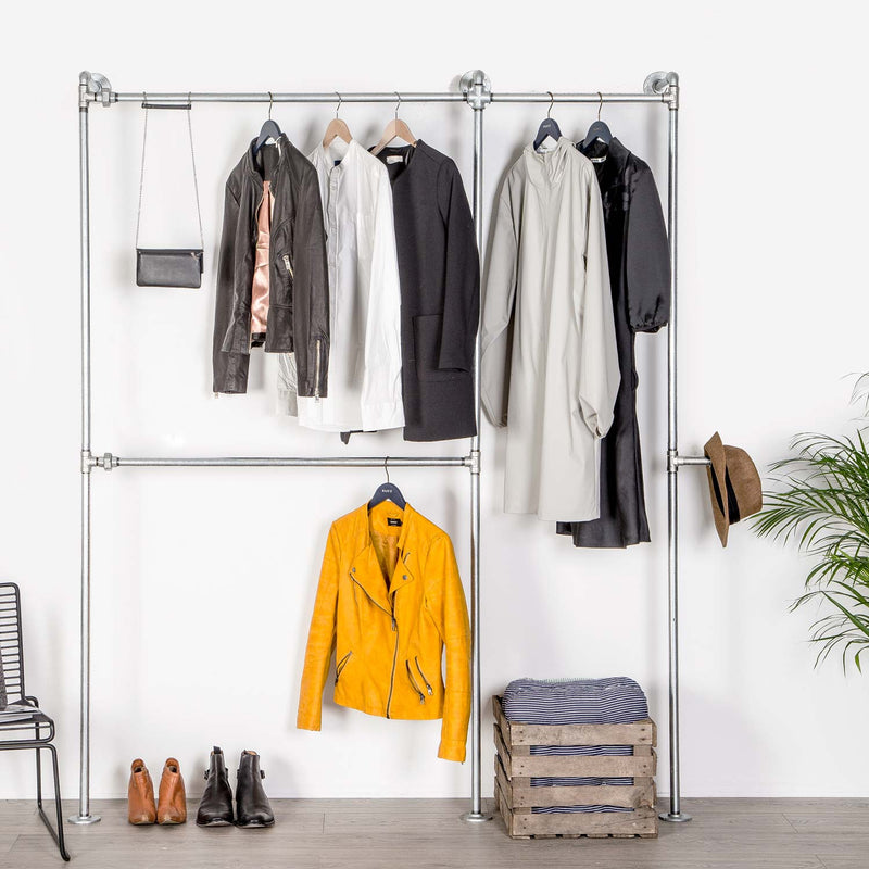 RAW58 Kennedy clothing rack in silver