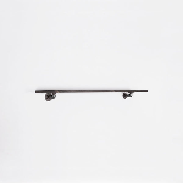 RAW58 Ella clothes rail in black with a shelf