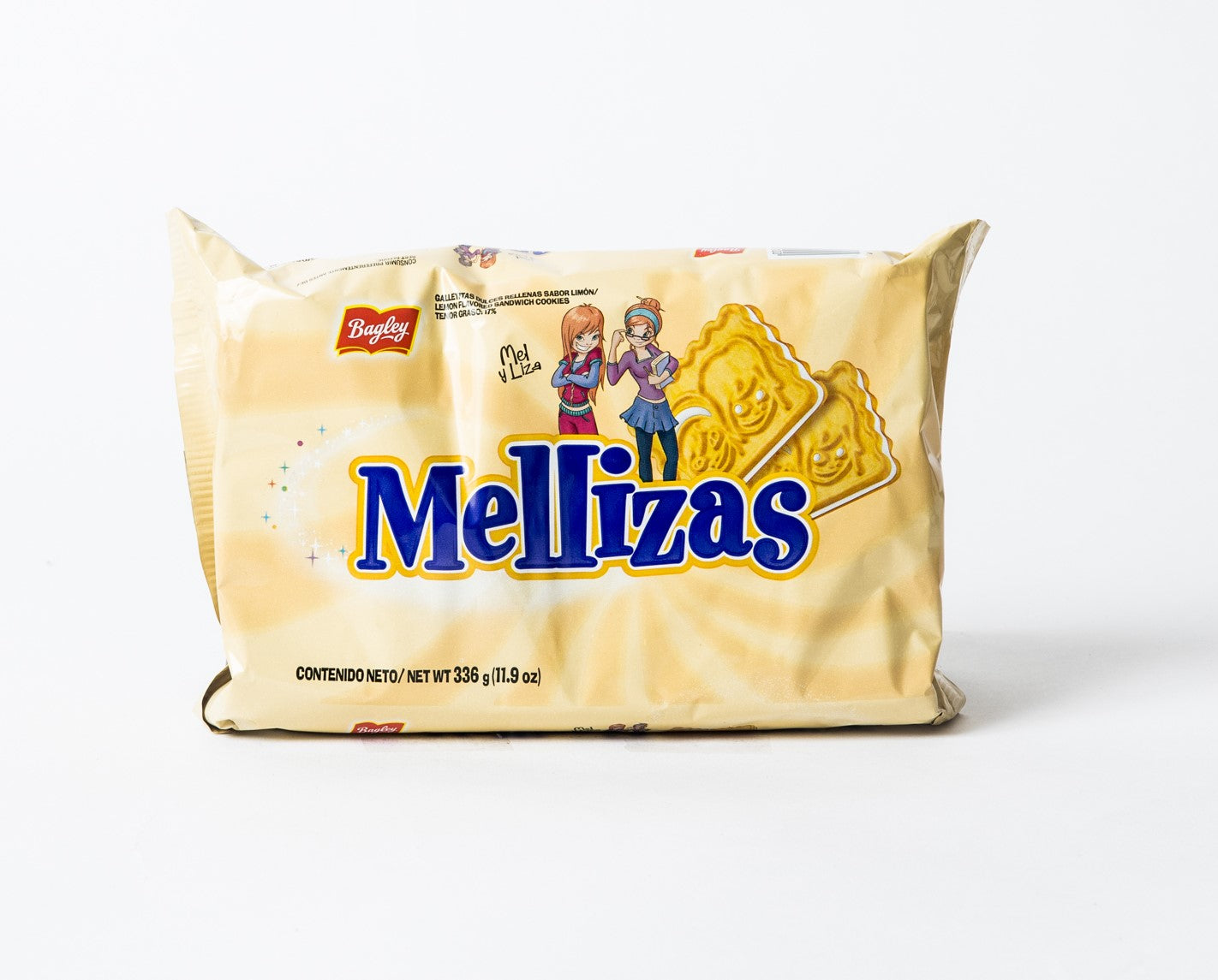 Bagley Mellizas Lemon Flavored Cookies