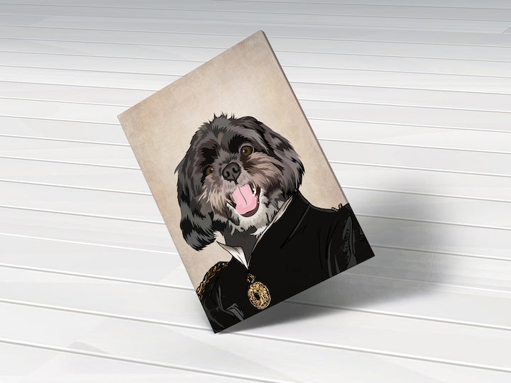 The Duchess - Custom Pet Portrait Canvas - Wags To Royalty