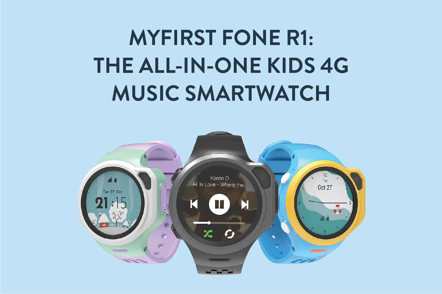 MyFirst Fone R1: The All-In-One Kids 4G Music Smart Watch
