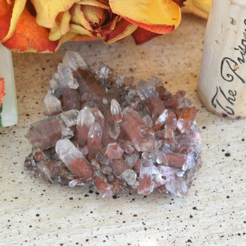 Orange River Quartz with Hematite Inclusions / Phantoms, Northern Cape, South Africa, 31.6 grams