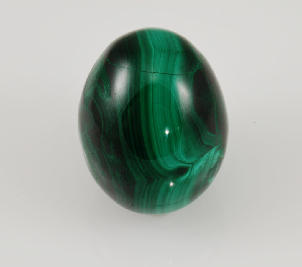 "Malachite Polished Egg 1.69"" x 1.30"" x 1.29"""