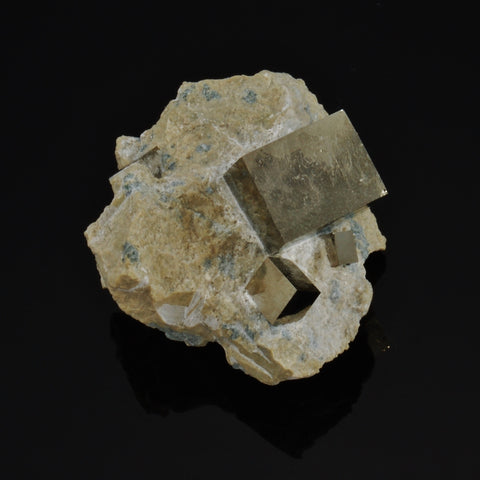 "Pyrite Crystal Cluster  1.65"" x 1.54"" x 1.17"""