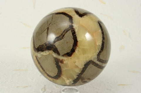 "Septarian Nodule Sphere 3.50"" in diameter"