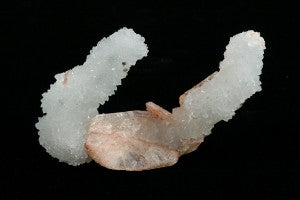 "Peach Stilbite with Druse Quartz Stalctites Crystal 2.75"" x 0.75"" x 2.00"""