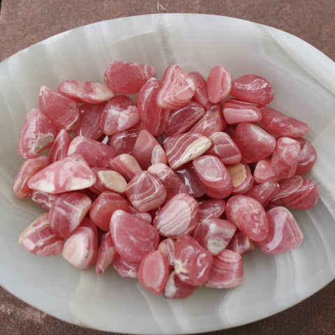 ONE Tumbled Rhodochrosite from Argentina, 2 to 3 grams ea.