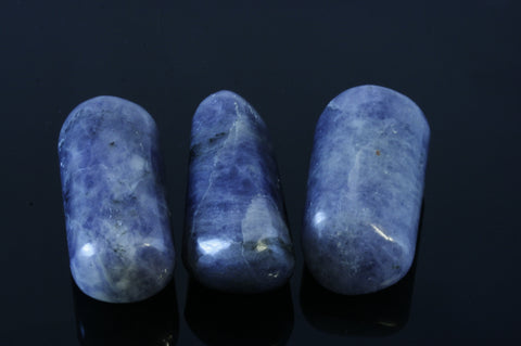 One Iolite with Sunstone Tumbled Stone
