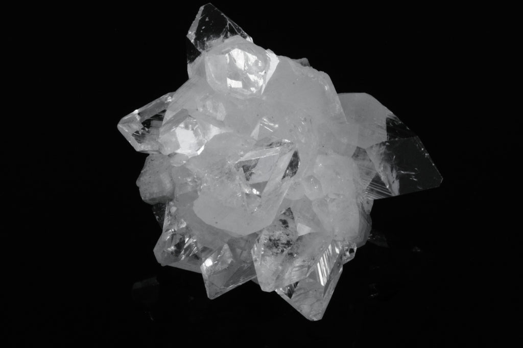 Apophyllite Crystal Cluster with Stilbite