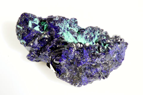 "Azurite Crystal Cluster with Fibrous Malachite 2.00"" x 1.12"" x 0.75"""