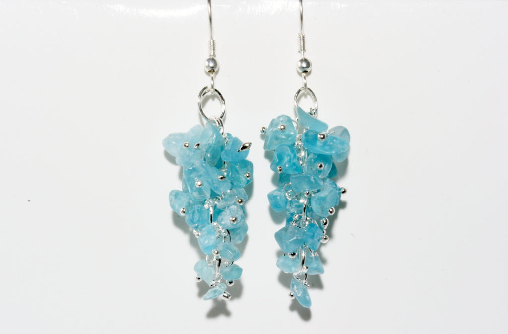 Apatite Grape Chip Earrings