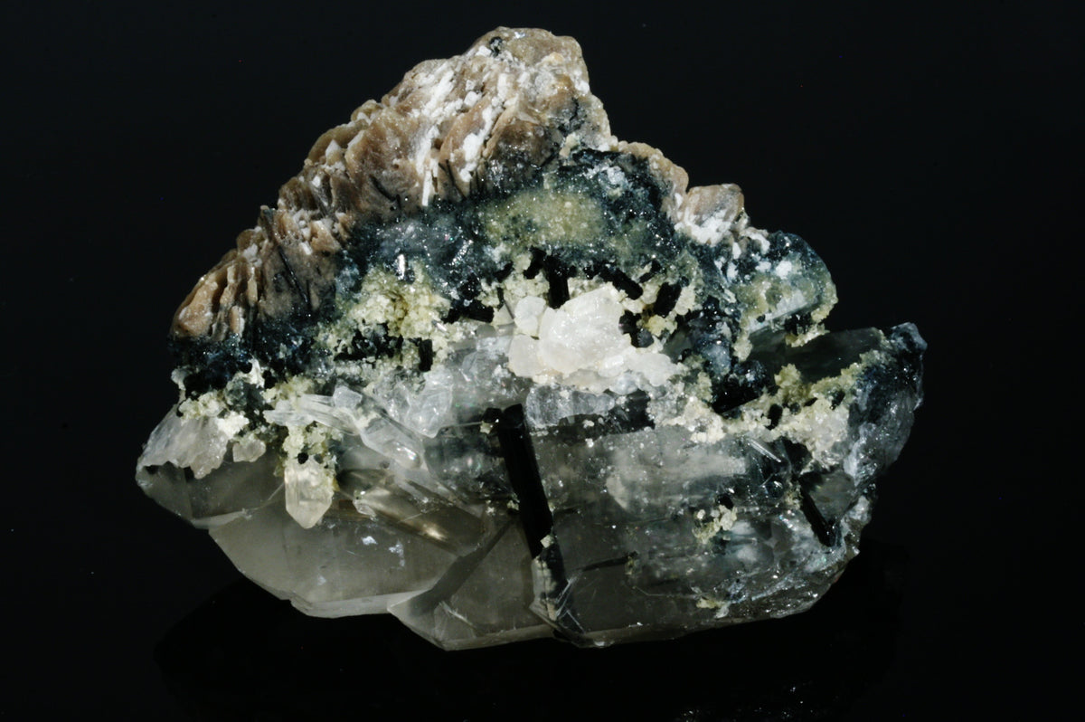 "Green Tourmaline & Quartz Cluster 3.18"" x 2.44"" x 1.50"""