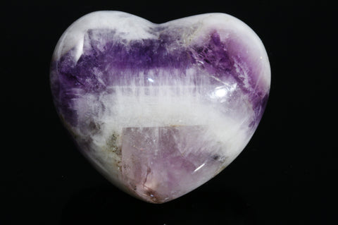 Chevron Amethyst Heart - Large