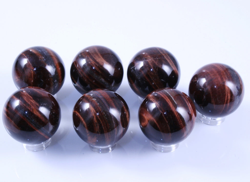 "One Red Tiger Eye Spheres, 1.19"" in diameter, 37g to 39g"