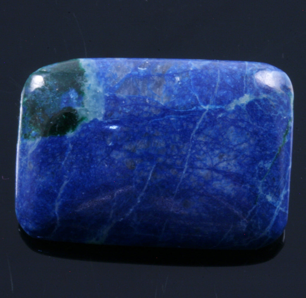 Shattuckite & Chrysocolla Rectangle Cabochon, 7.5g