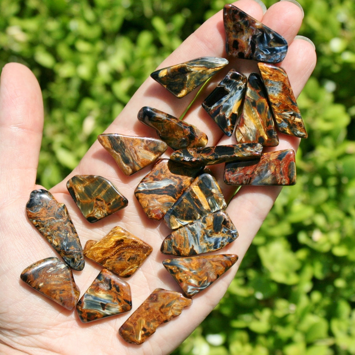 ONE Pietersite Chatoyant Tumbled Stones from Namibia, 2.5 - 3.5 grams each