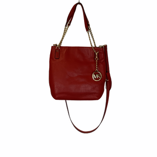 Primary Photo - BRAND: MICHAEL KORS STYLE: HANDBAG DESIGNER COLOR: RED SIZE: MEDIUM SKU: 210-210162-111AS IS