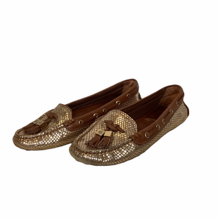 Primary Photo - BRAND: TORY BURCH STYLE: SHOES DESIGNER COLOR: GOLD SIZE: 6.5 OTHER INFO: AS IS SKU: 210-210142-3582