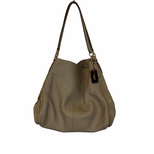 Primary Photo - BRAND: COACH STYLE: HANDBAG DESIGNER COLOR: CREAM SIZE: MEDIUM OTHER INFO: AS IS SKU: 210-210106-32322