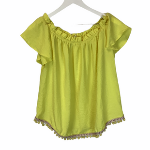 Primary Photo - BRAND: PEACH LOVE CREAM CALIFORNIA STYLE: TOP SHORT SLEEVE COLOR: YELLOW SIZE: S SKU: 210-210145-300