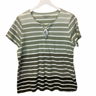 Primary Photo - BRAND: CROFT AND BARROW STYLE: TOP SHORT SLEEVE COLOR: GREEN SIZE: XXL SKU: 210-21099-17504