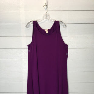 Primary Photo - BRAND: CHICOS STYLE: DRESS LONG SLEEVELESS COLOR: PURPLE SIZE: M SKU: 210-210129-3331
