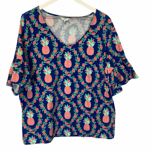 Primary Photo - BRAND: CROWN AND IVY STYLE: TOP SHORT SLEEVE COLOR: BLUE SIZE: XL SKU: 210-21099-12119