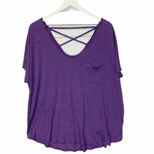 Primary Photo - BRAND: FADED GLORY STYLE: TOP SHORT SLEEVE COLOR: PURPLE SIZE: 2X SKU: 210-210143-414