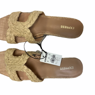 Primary Photo - BRAND: EXPRESS STYLE: SANDALS FLAT COLOR: TAN SIZE: 7 SKU: 210-21099-14432