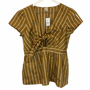 Primary Photo - BRAND: ANN TAYLOR LOFT STYLE: TOP SHORT SLEEVE COLOR: GOLD SIZE: XS SKU: 210-21099-15824