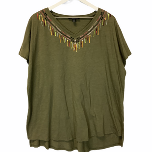 Primary Photo - BRAND: LANE BRYANT STYLE: TOP SHORT SLEEVE COLOR: GREEN SIZE: 2X SKU: 210-210143-647