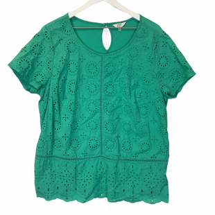Primary Photo - BRAND: CROWN AND IVY STYLE: TOP SHORT SLEEVE COLOR: GREEN SIZE: XL SKU: 210-21099-17561