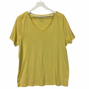 Primary Photo - BRAND: TALBOTS STYLE: TOP SHORT SLEEVE COLOR: YELLOW SIZE: 1X SKU: 210-210130-5871