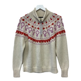 Primary Photo - BRAND: 525 AMERICA STYLE: SWEATER LIGHTWEIGHT COLOR: CREAM SIZE: L SKU: 210-21099-15613