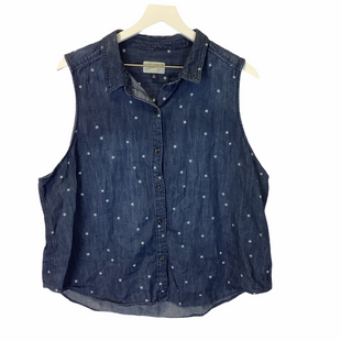 Primary Photo - BRAND: UNIVERSAL THREAD STYLE: TOP SLEEVELESS COLOR: BLUE SIZE: XXL SKU: 210-210117-7293