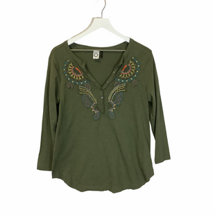 Primary Photo - BRAND: ANTHROPOLOGIE STYLE: TOP LONG SLEEVE COLOR: GREEN SIZE: M SKU: 210-210106-29375