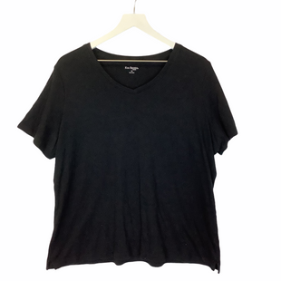 Primary Photo - BRAND: KIM ROGERS STYLE: TOP SHORT SLEEVE COLOR: BLACK SIZE: 1X SKU: 210-21099-12883
