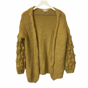 Primary Photo - BRAND:    CLOTHES MENTOR STYLE: SWEATER CARDIGAN HEAVYWEIGHT COLOR: YELLOW SIZE: M OTHER INFO: VELZERA - SKU: 210-210145-4650